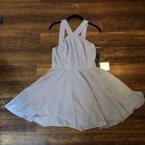 Grey Lulus Midi Dress